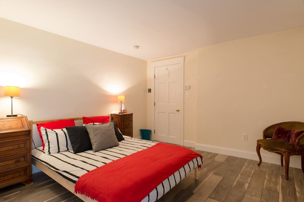 Bedroom one with double size bed