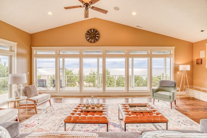 Multi-decked, Contemporary Oceanfront Stunner has Four Bedrooms, Five Baths. Panoramic Views in Newport!