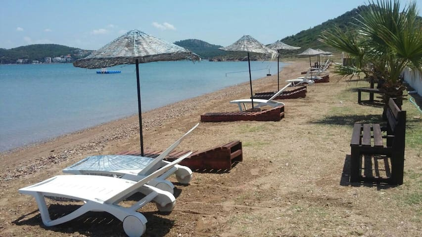 Ayvalık Sarımsaklı özel plajl villa - Ayvalık - Hus