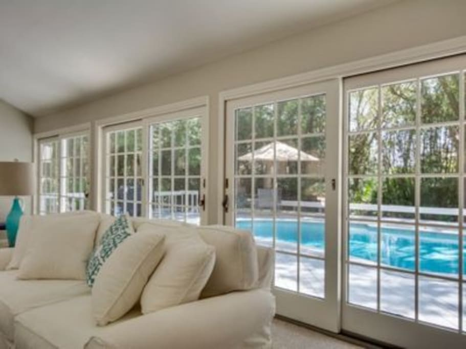 Views from the Great (Family) Room to the Pool - all one level