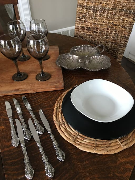 Plenty of items to host a celebratory dinner