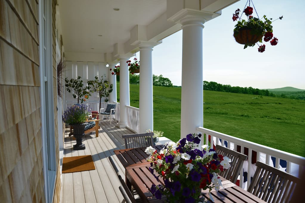 Front porch with morning sun/sunrises