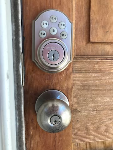Keyless lock allows for easy self check-in.