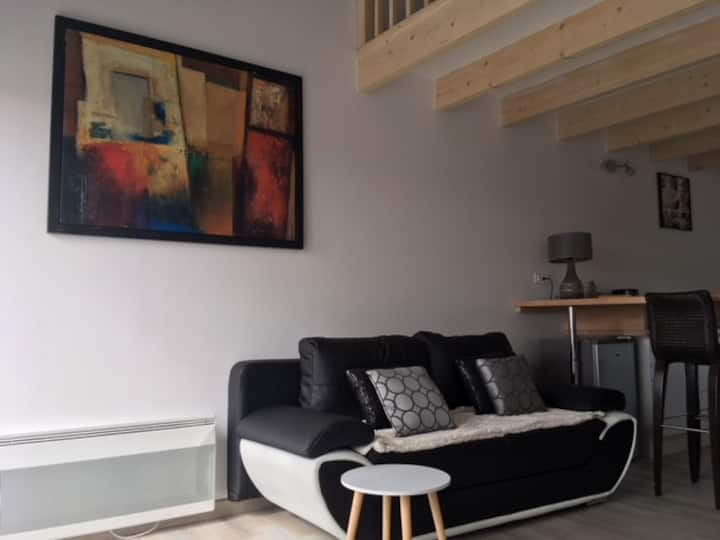 Appartement en duplex, belle vue, wifi parking