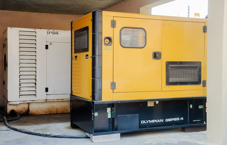 The Power Generating sets to ensure 24 hours electricity