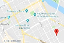 We are downtown near almost all Nashville's attractions and venues!