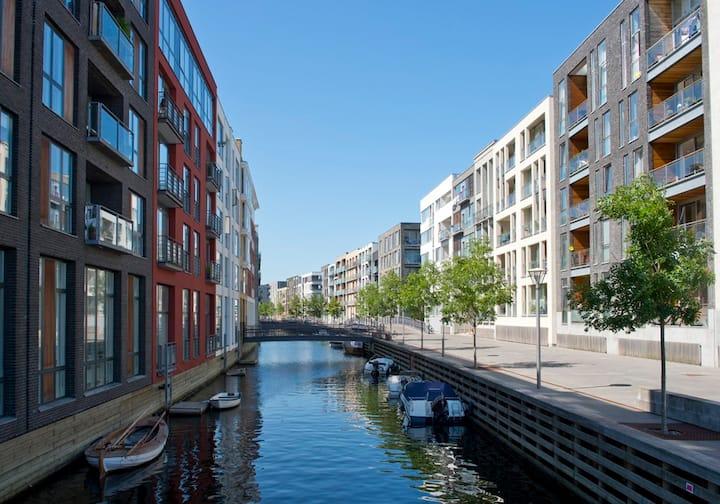 3 bedroom Copenhagen apartment. By the water.