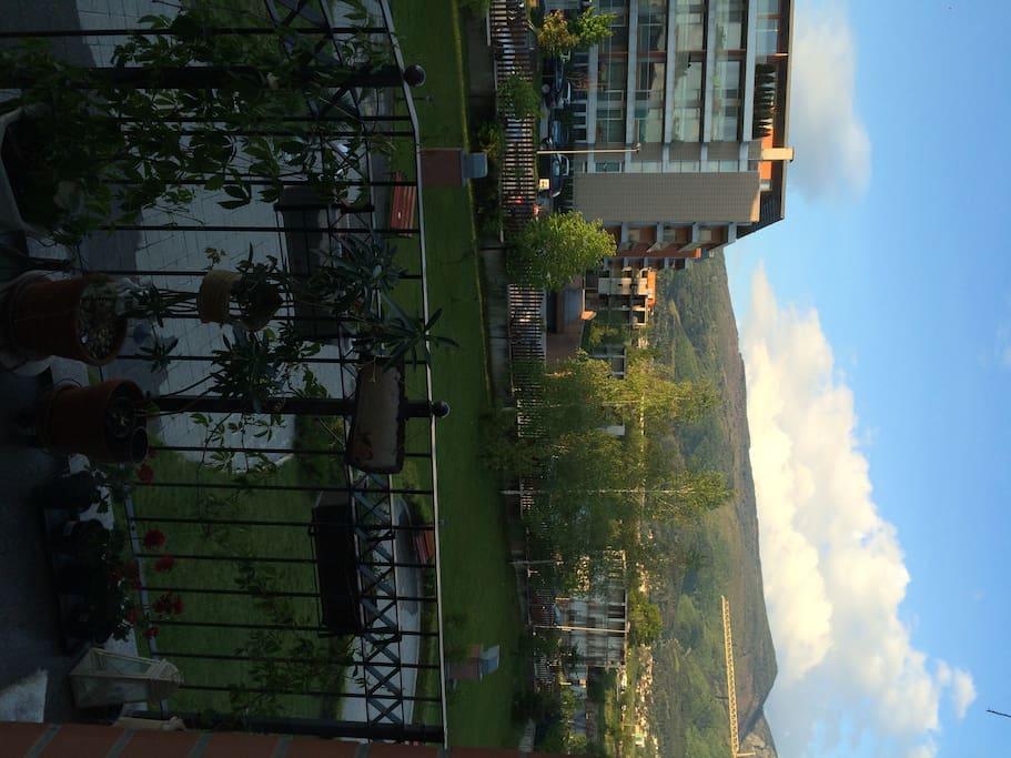 Big balcony view