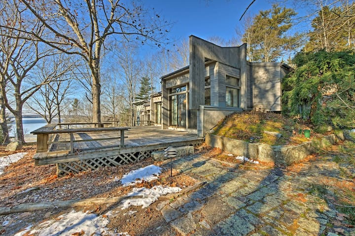 NEW! 3BR Franklin Home on 14 Acres w/Private Beach