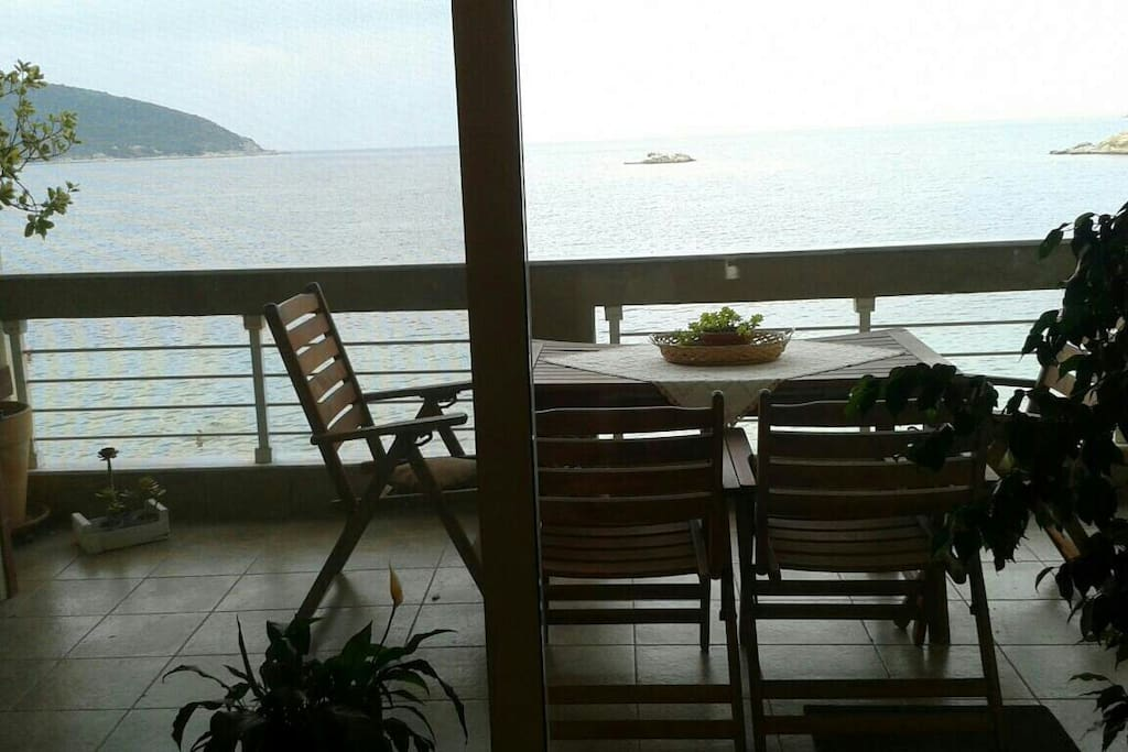 Sea view from our veranta