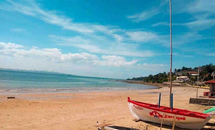 Paraíso na Ilha de Itaparica a 2 minutos da praia