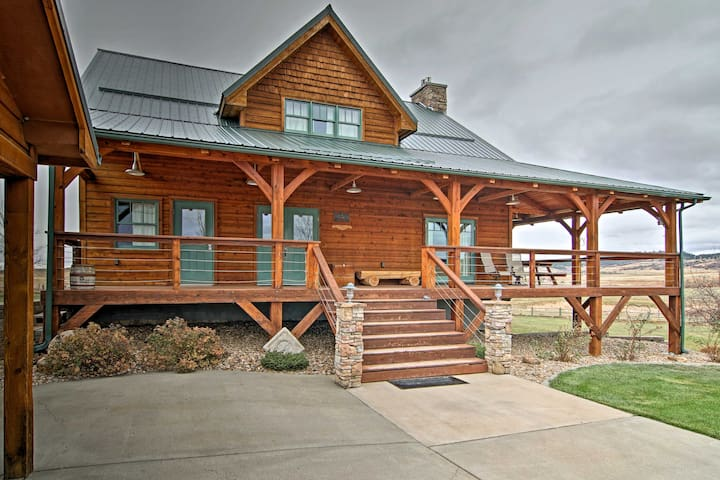 NEW! Spearfish 4BR Home on 40 Acres w/Private Lake