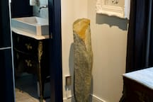 ART AND ANTIQUE FURNISHINGS - BATHROOM ENTRANCE