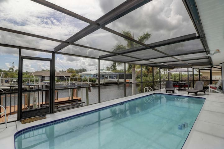 Enjoy your own private heated pool, spacious fully screened lanai, and canal frontage for the ultimate SW Florida getaway.