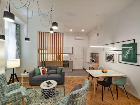 Moderní 1BR Ap ★ Krásný interiér  ★  Primární umístění