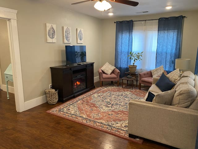 Cozy Living Room, Electric fireplace, Smart TV