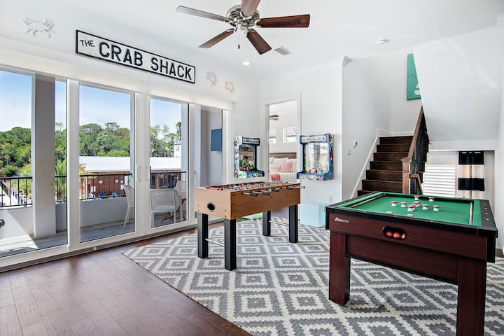 Shore Beats Workin Luxury Beach House with Game Room ~ Includes Six Person Golf Cart!