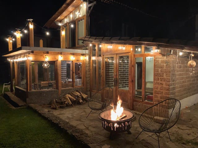 the Hippie ranch at night!