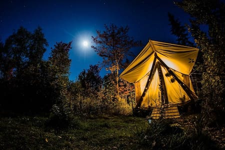 Glamping Wall Tent on Organic Farm~Luxury camping!