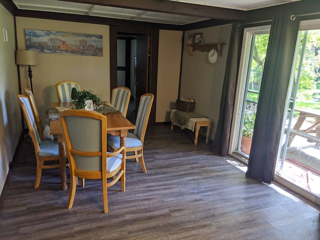 Splash of Swedish in an Exposed Basement Apartment