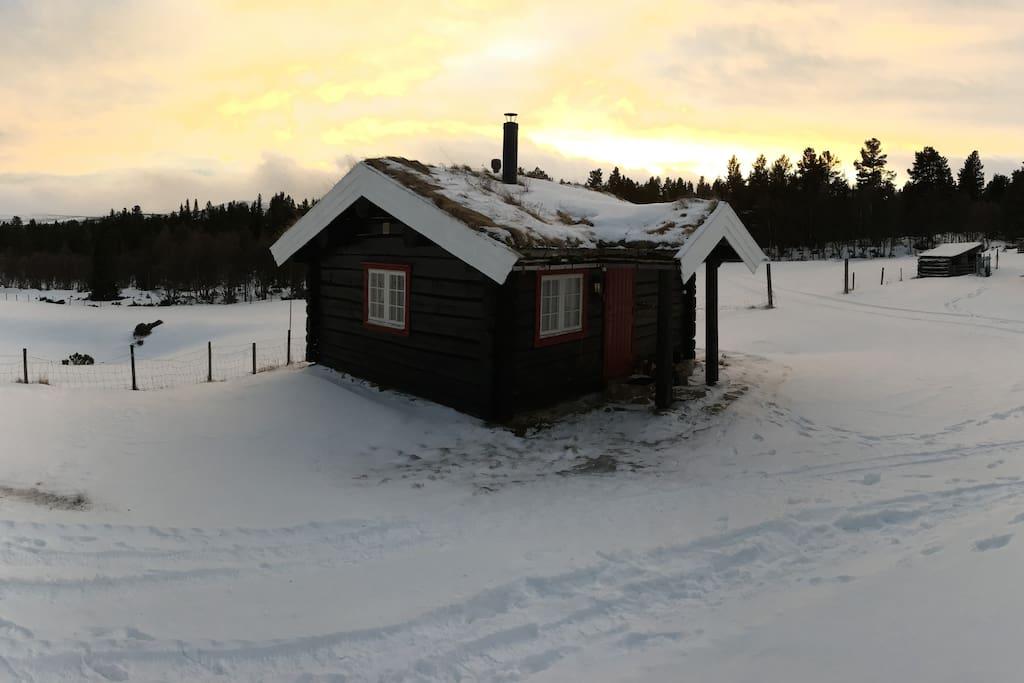 Fasadebilde hytta
