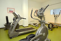 Keep in shape on your stay and use the fitness center.