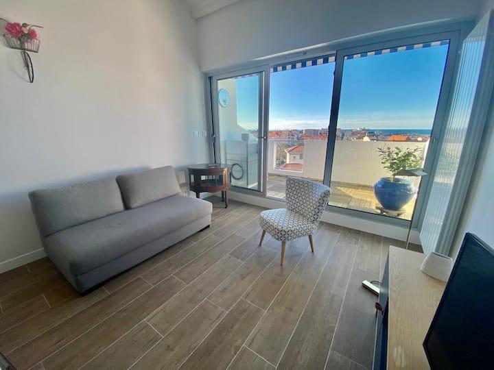 Splendide appartement avec terrasse vue océan !
