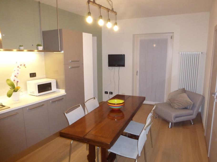 Zona giorno appartamento Green