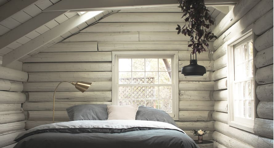 Cozy Log Cabin Feel