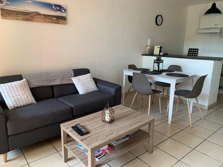 Appartement avec jardin entre Bordeaux et Libourne