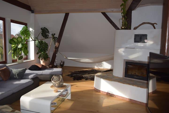 gemütlicher Luxus im restaurierten Bauernhof+Sauna