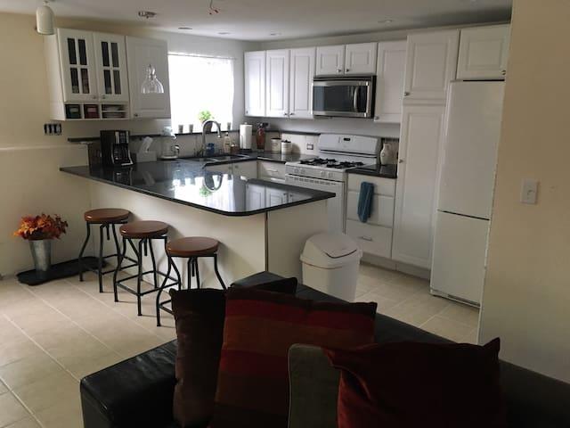 Spacious & Comfortable Garden Level Apartment