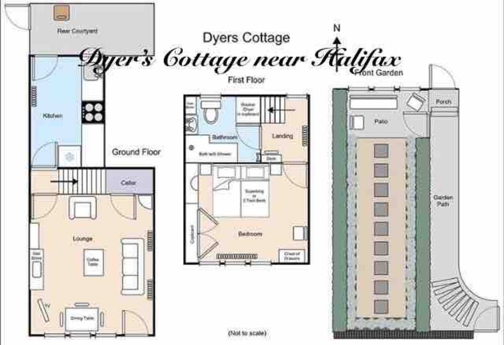 We hope this will be as helpful as the photographs. The plan is not drawn exactly to scale but gives you a very good idea of the room sizes and layout of a very quirky cottage. The garden is a very special feature too and is a great place to unwind.