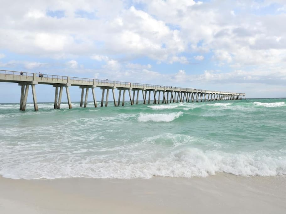 This is Navarre beach pier, longest pier around!