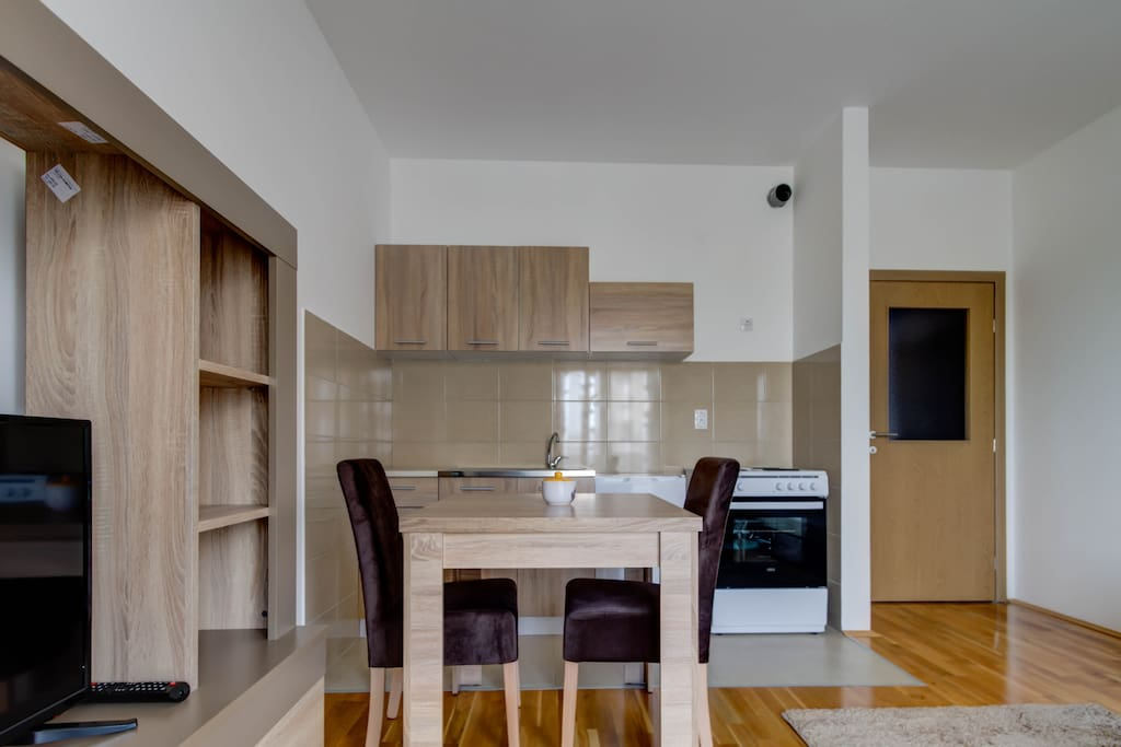 Dinning Table with Kitchen.
