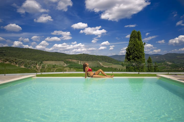 Ville La Marcellina with Private Pools, Garden, Terraces, Ideal for Weddings
