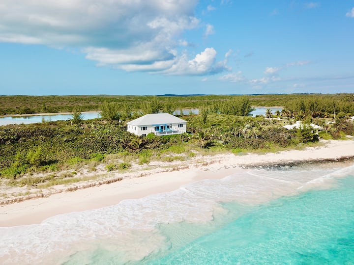 Private Estate on 2-Mile-Long Pink Sand Beach