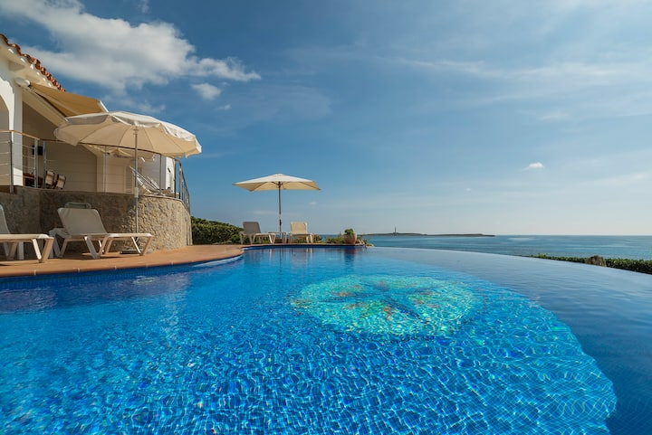 "Room ""Stelle""-Casa Milos-villa, pool on the sea"