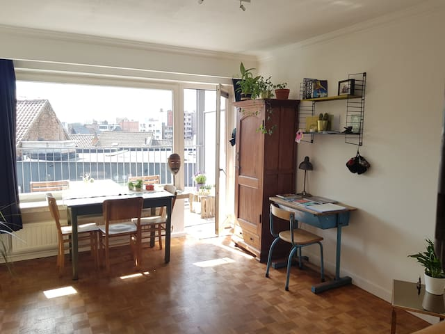 Bright studio, sunny terrace, 1 km from citycenter