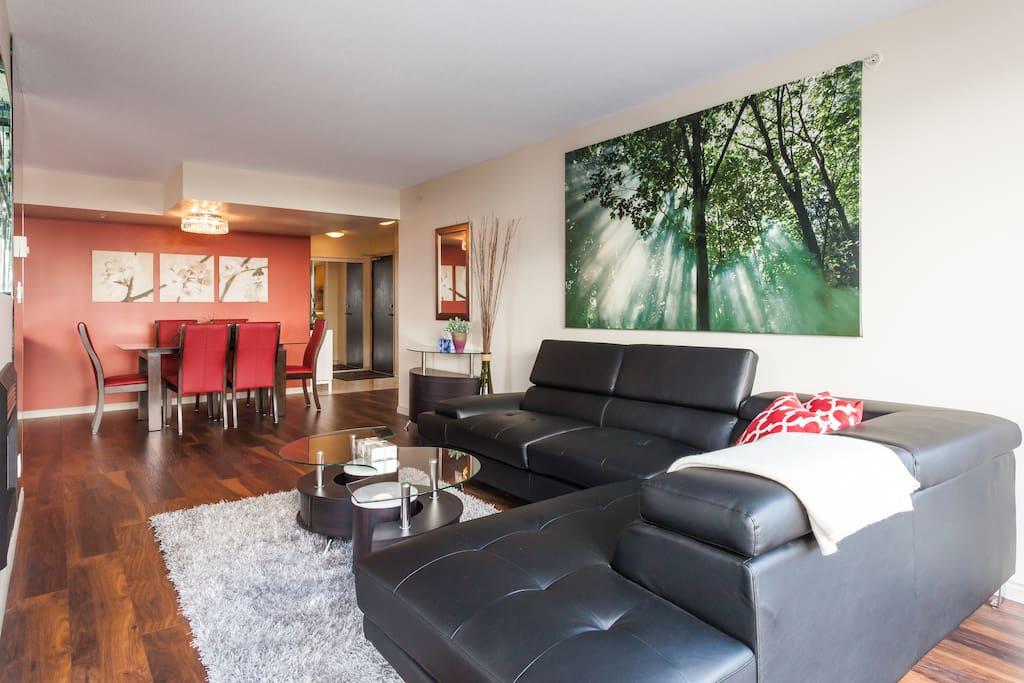 Living room, dining room