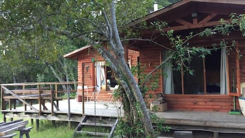 Pucon hytte/Ekologisk grund i Catripulli.-