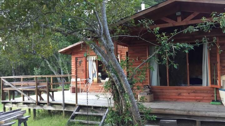 Cabaña Pucon / Parcela ecológica en Catripulli.-