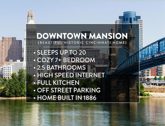 DOWNTOWN MANSION: 7 Bedrooms, 2.5 Baths, Sleeps 20