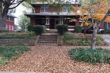 The main house w street parking