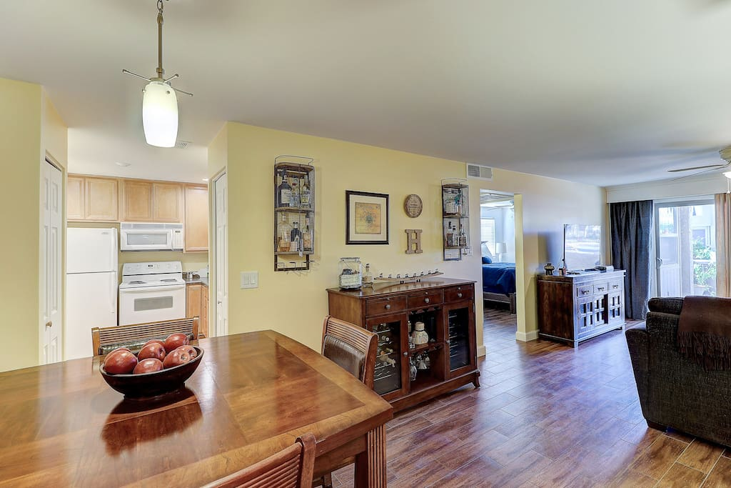 Welcome home!  Well appointed Old Town condo with all the amenities of home. Including a wine refrigerator.