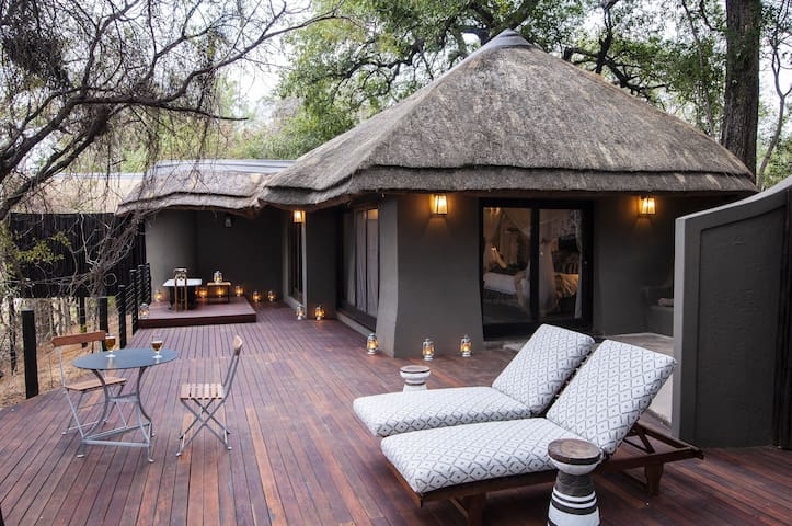Individual Thatched Suite at Jock Safari Lodge