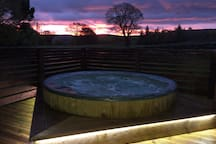 Your private hot tub awaits you, relax and unwind in an idyllic National Park location