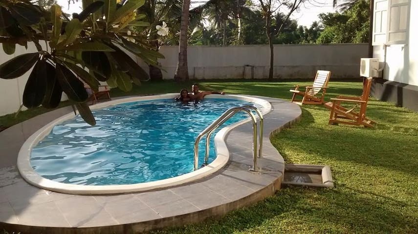 Colonial Villa with a private pool close to beach