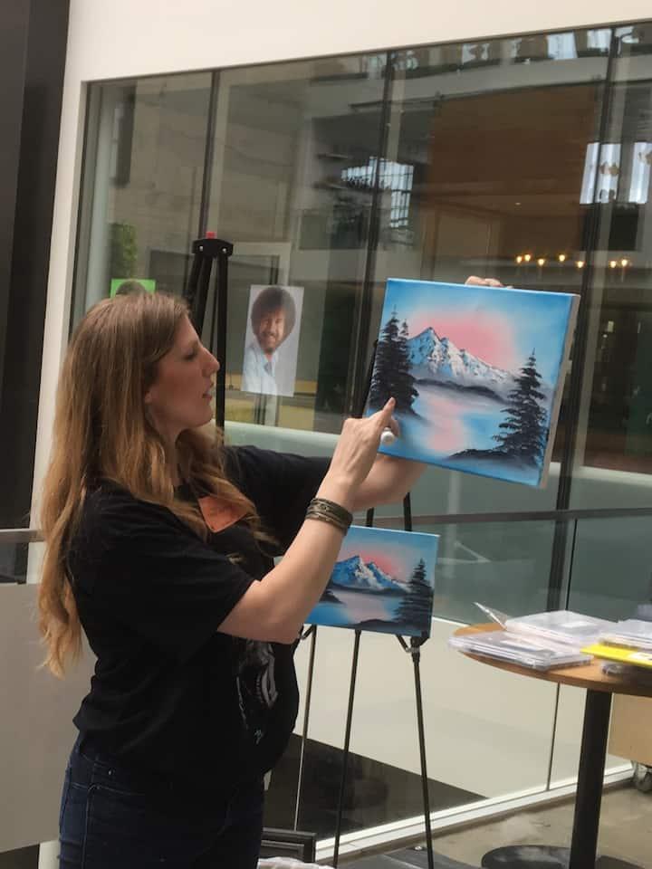 TrueLeah teaching a Paint'N'Take class.