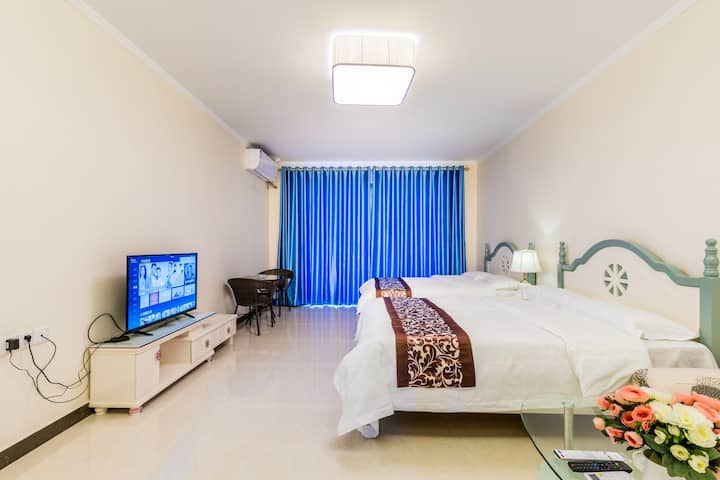 (可长租)海陵岛~碧海蓝天高层海景双床房